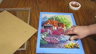 Framing a diamond painting -  Easy and Inexpensive!