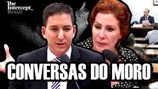 Glenn Greenwald e Carla Zambelli discutem o vazamento de mensagens de Moro e Dallagnol