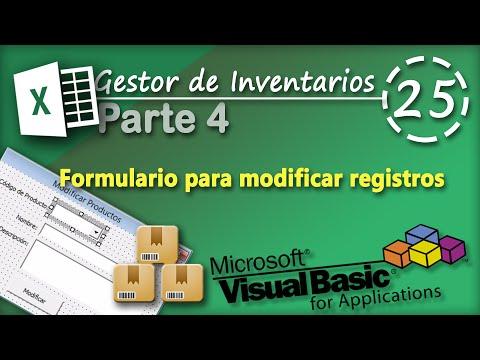 21. Formulario para modificar Registros y otras validaciones - Inventarios | VBA Excel 2013
