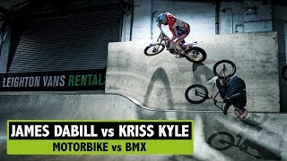 GAME OF BIKE MOTORBIKE VS BMX (JAMES DABILL VS KRISS KYLE)