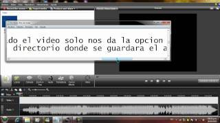 Extraer audio a un video utilizando camtasia studio