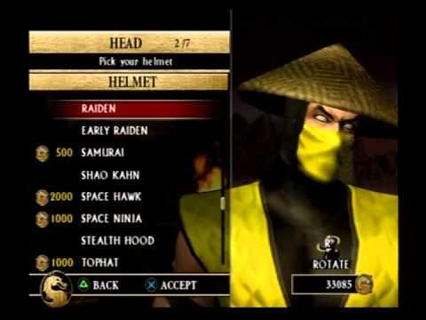 Mortal Kombat Armageddon - Creating an MK1 Scorpion KAF
