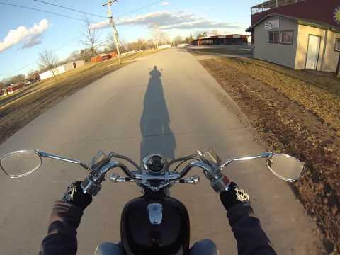 Riding a Suzuki Intruder VS750