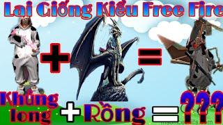 [Free Fire Hài Hước #1] Thử Lai Giống Khủng Long và Rồng và cái kết cười đau bụng ...
