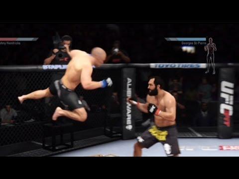 EA Sports UFC 2014 Gameplay - Superman Punch Shot Clock Cheese