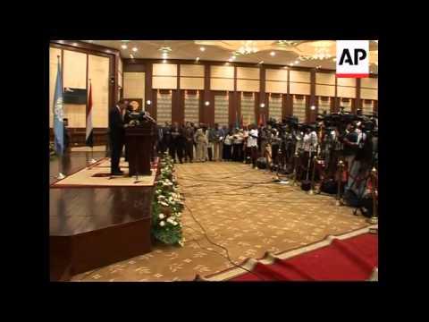 UN chief, Sudanese president announce new peace talks for Darfur
