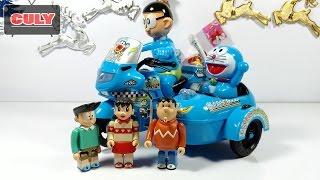 đồ chơi Doremon xe cảnh sát Nobita police motorcycle toys for kids