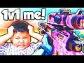 TRASH TALKING KID WANTS TO 1V1 ME ON BLACK OPS 3! (BO3 New Update, DLC Weapons, and Funny Moments)