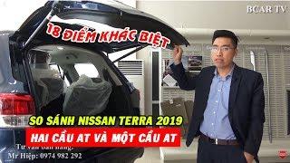 [SO SÁNH] 18 điểm rất khác biệt giữa Nissan Terra 2 cầu số tự động và Nissan Terra 1 cầu số tự động