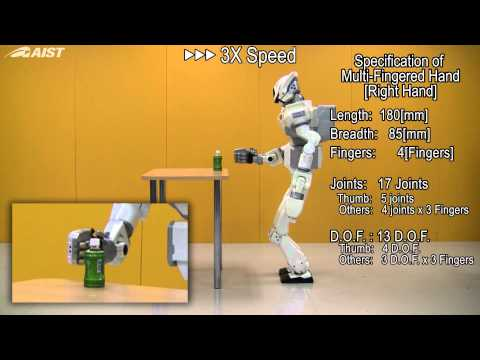 Humanoid Robot HRP-3 Experiments on Multifinger Hand Grasp based on Visual Recognition