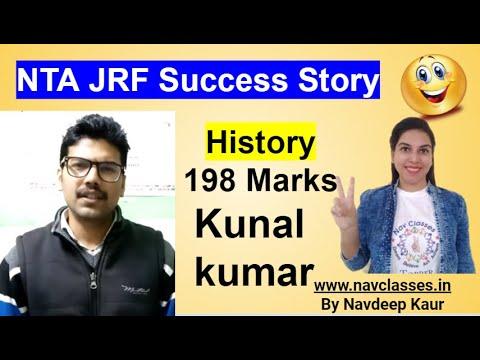 NTA NET JRF Success Story History 198 Marks Kunal kumar by Navdeep Kaur