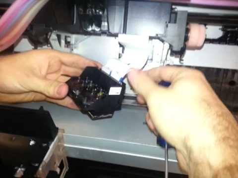 Epson 9700 Removing And Cleaning The Print Head Youtube