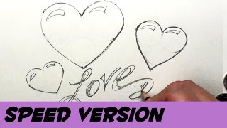 How to Draw Hearts Using Coins of Various Sizes - Speed Version | BP