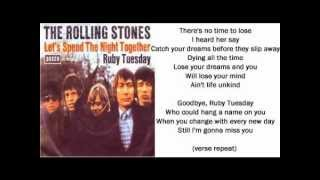The Rolling Stones Video - The Rolling Stones - Ruby Tuesday (+ lyrics 1967)