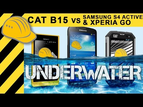 CAT B15 vs. Samsung S4 Active & Xperia Go - Will it crash? Outdoor Smartphone Test - Bauforum24