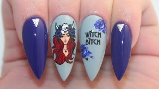 How To: Witch Bitch Halloween Acrylic Nails Tutorial