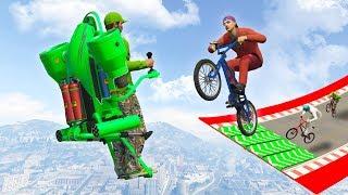 JETPACK VS BMX SMASH! (GTA 5 Funny Moments)
