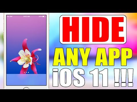 how to make apps disappear ios 11