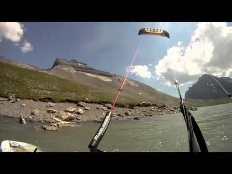 Kiten, im, Wallis, Daubensee, Flysurfer