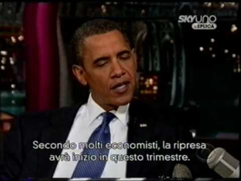 (22/09/2009) Late Show with David Letterman - Letterman intervista Obama (2) (sub ita)
