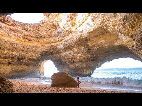 Einsame Höhle, Klippenspringen und Camping • Benagil Cave Algarve Portugal • Camping | VLOG #389
