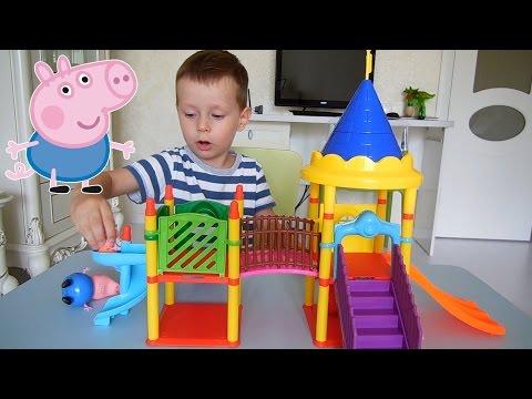 Пеппа и ее семья на детской площадке / Peppa Pig The Playground