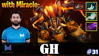 GH - Earthshaker Offlane | with Miracle (Enigma) | Dota 2 Pro MMR Gameplay #31