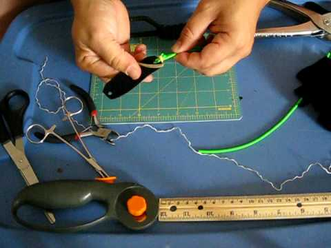 Slingshots: tying leather to surgical tubing