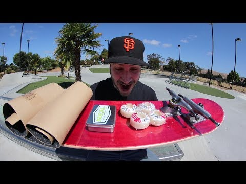SETTING UP A BRAND NEW SKATEBOARD!
