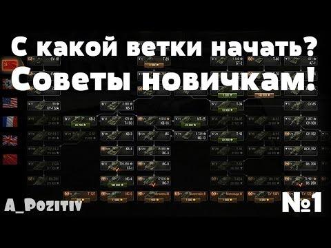 World of Tanks ~ Советы новичкам №1 ~ С какой ветки начать?