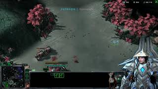 StarCraft 2 Terran vs Zerg  Both players win at the end.