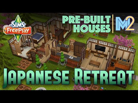 Sims FreePlay - Japanese Retreat on Premium Ocean Lot (Review & Walkthrough)