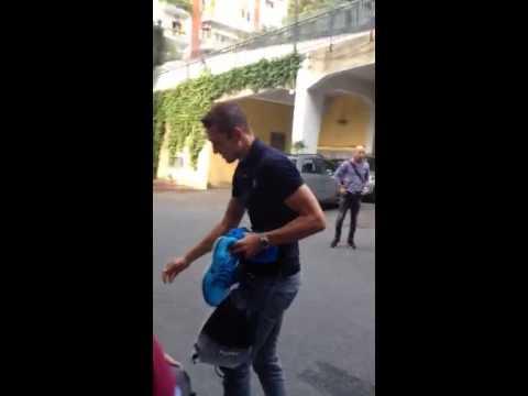 Stefan De Vrij arriva in Paideia per le visite mediche - Roma 29/07/2014