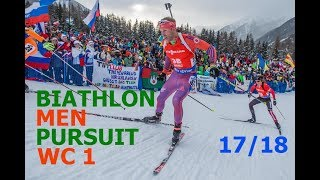 BIATHLON MEN PURSUIT 03.12.2017 World Cup 1 Oestersund (Sweden)