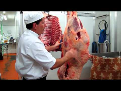 Part 1 - How to bone a hind quarter of beef demonstration by Master Butcher Michael Cross