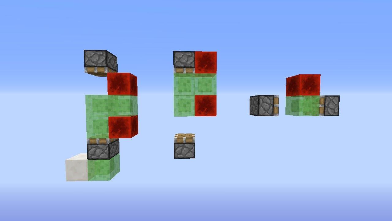 Minecraft Redstone Creation Simple UpDownLeftRight