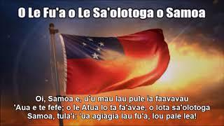 Samoan National Anthem (O Le Fu'a o Le Sa'olotoga o Samoa) - Nightcore Style With Lyrics