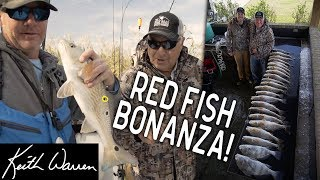 22 Redfish Bonanza with the Fish Intimidator!! | The Texas Angler #5