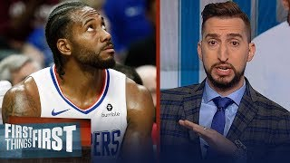 Shocking if Kawhi plays 70 games for Clippers this season — Nick Wright | NBA | FIRST THINGS FIRST