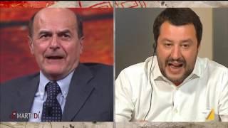 Confronto fuori scaletta tra Matteo Salvini e Pierluigi Bersani su regolarizzazione degli immigrati