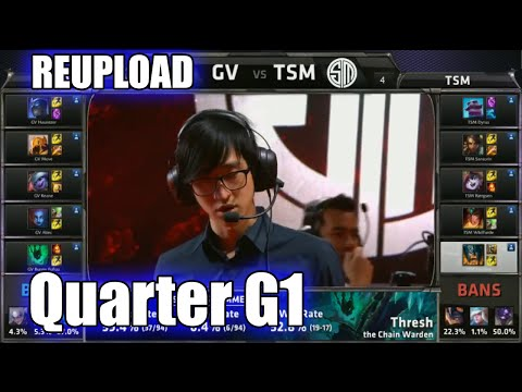 [REUPLOAD] TSM vs Gravity | Game 1 Quarter Finals S5 NA LCS Summer 2015 Playoffs | TSM vs GV G1
