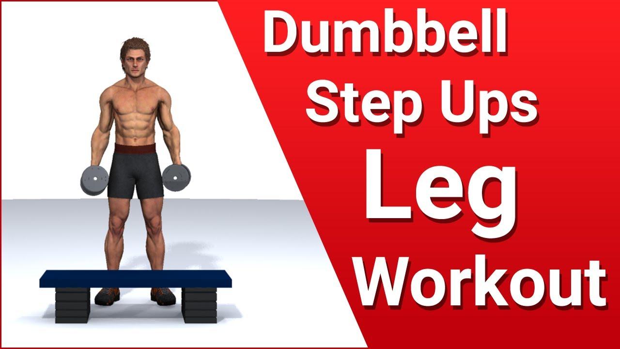 Dumbbell step ups