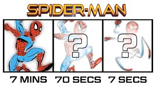 DRAWING SPIDER-MAN (+ Venom) in 7 MINUTES, 70 SECONDS & 7 SECS! | Butch Hartman