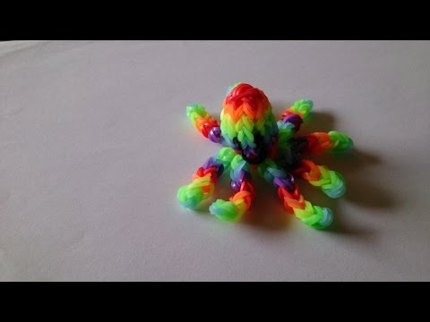 осьминог из резинок на рогатке :: VideoLike