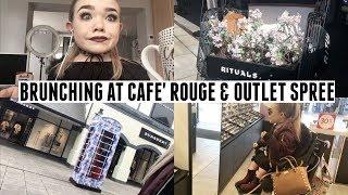 BRUNCH AT CAFE ROUGE & OUTLET SHOPPING   VLOG   MakeupJunkieG