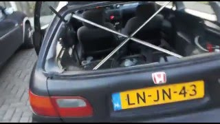 Honda Civic EG full stripped rollcage very nice