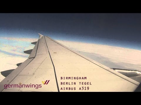 Timelapse Flight:  Birmingham to Berlin Tegel (Germanwings Airbus A319) GoPro