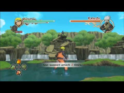 Naruto Ultimate Ninja Storm 2 Naruto and Sakura Vs Kakashi S-Rank HD (English)