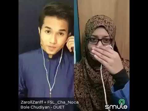 Bole Chudiyan(Film Kabhi Kushi Kabhi Gham) - Zaroll Zariff & Hidayah Halim [Smule Malaysia]
