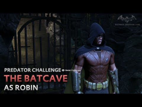 Batman: Arkham City - The Batcave [as Robin] - Predator Challenge